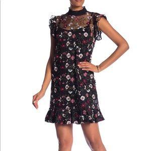 Cece by Cynthia Steffe Floral Mesh A-line Dress